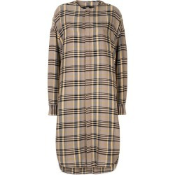 Bassike cutout detail plaid midi shirt dress - Yellow found on MODAPINS from FARFETCH.COM Australia for USD $408.93