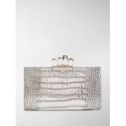 Alexander McQueen crocodile-effect clutch bag found on Bargain Bro UK from MODES GLOBAL