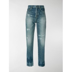 Saint Laurent distressed fitted jeans found on Bargain Bro India from stefania mode for $750.00