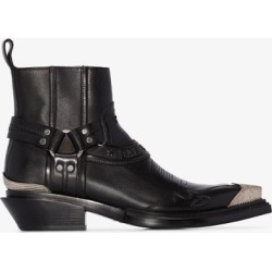 Balenciaga black santiag 40 leather ankle boots found on Bargain Bro UK from Browns Fashion