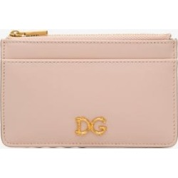 Dolce & Gabbana Womens Pink Baroque Logo Leather Card Holder found on Bargain Bro UK from Browns Fashion