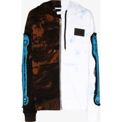 Faith Connexion Mens Black X Ntmb Split Printed Cotton Hoodie found on MODAPINS from Browns Fashion for USD $864.20