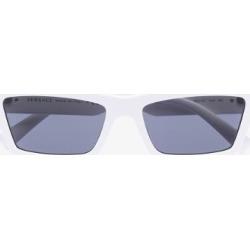 Versace Eyewear Womens White Medusa Rectangle Sunglasses found on Bargain Bro UK from Browns Fashion
