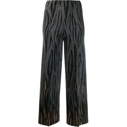 Circus Hotel jacquard flame trousers - Grey found on Bargain Bro Philippines from FarFetch.com - US for $214.00