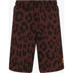 Kenzo Mens Brown Leopard Print Shorts found on Bargain Bro UK from Browns Fashion
