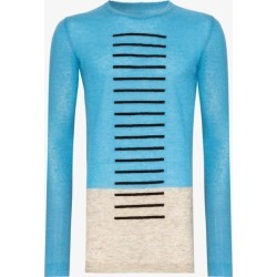 Rick Owens Mens Blue Rick Biker Crw Swtr Blu found on Bargain Bro UK from Browns Fashion