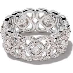 De Beers 18kt white gold Enchanted Lotus diamond band found on Bargain Bro India from FarFetch.com - US for $6200.00