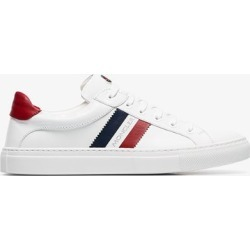 Moncler Womens White Leni Leather Sneakers found on Bargain Bro UK from Browns Fashion