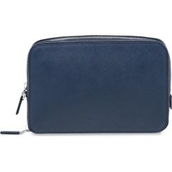 Prada saffiano logo clutch bag - Blue found on Bargain Bro UK from FarFetch.com- UK