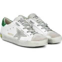 Golden Goose Kids Superstar glitter sneakers - White found on Bargain Bro UK from FarFetch.com- UK