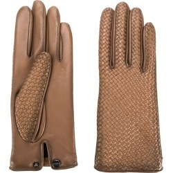 Agnelle woven effect gloves - Brown found on MODAPINS from FarFetch.com - US for USD $165.00