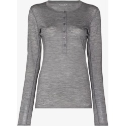 Falke Womens Grey Long-sleeve Button Placket Top found on Bargain Bro UK from Browns Fashion