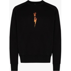 Neil Barrett Mens Black Flame Logo Print Sweatshirt found on Bargain Bro UK from Browns Fashion