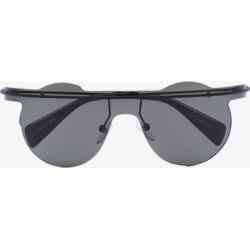 Yohji Yamamoto black YY7027 metal sunglasses found on Bargain Bro UK from Browns Fashion