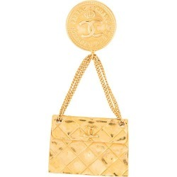 Chanel Vintage Chanel Vintage CC logos bag motif brooch pin - Gold found on MODAPINS from FarFetch.com- UK for USD $549.82