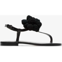 Álvaro black Arjan pom pom leather sandals found on MODAPINS from Browns Fashion for USD $226.60