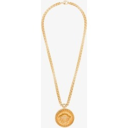Versace Mens Metallic Gold Tone Medusa Medallion Necklace found on Bargain Bro UK from Browns Fashion