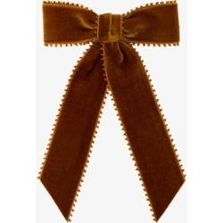 Jennifer Behr Womens Yellow Naomi Velvet Bow Barrette found on Bargain Bro UK from Browns Fashion