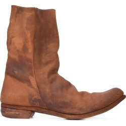 A Diciannoveventitre relaxed distressed boots - Brown found on MODAPINS from FARFETCH.COM Australia for USD $3234.57