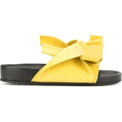 Nº21 bow-detail slides - Black found on Bargain Bro UK from FarFetch.com- UK for $618.86