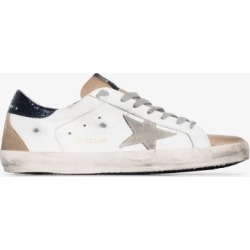Golden Goose Mens White And Beige Superstar Leather Sneakers found on Bargain Bro UK from Browns Fashion