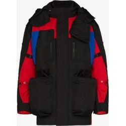 Burberry hooded colour block jacket