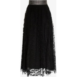 Christopher Kane embellished belt lace midi skirt found on MODAPINS from Browns Fashion for USD $1037.10