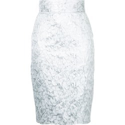Bambah brocade pencil skirt - Metallic found on MODAPINS from FARFETCH.COM Australia for USD $385.15