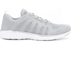 Apl perforated lace-up sneakers - Grey found on MODAPINS from FARFETCH.COM Australia for USD $116.30