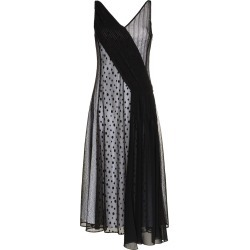Adeam Art Deco lace and polka dot slip dress - Black found on MODAPINS from FarFetch.com- UK for USD $464.52