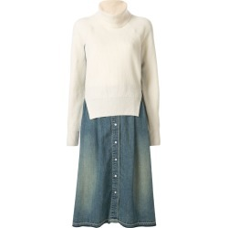 Sacai knitted jumper dress - NEUTRALS found on Bargain Bro India from FARFETCH.COM Australia for $1844.92