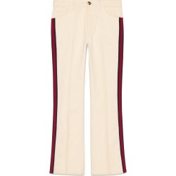 Gucci Denim flare pant with Web - White found on MODAPINS from FarFetch.com- UK for USD $751.60