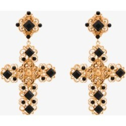 Dolce & Gabbana Womens Gold Tone Crystal Cross Earrings found on Bargain Bro UK from Browns Fashion