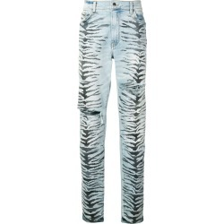 Amiri Tiger Destruction jeans - Blue found on MODAPINS from FARFETCH.COM Australia for USD $419.24