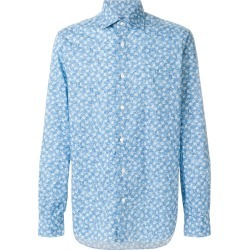 Barba rose print shirt - Blue found on MODAPINS from FarFetch.com- UK for USD $331.72
