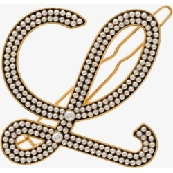 Loewe Womens Gold Tone Pearl Embellished Hair Pin found on Bargain Bro UK from Browns Fashion