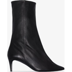 Acne Studios Womens Black Beau 70 Pointed Toe Leather Boots found on MODAPINS from Browns Fashion for USD $847.94