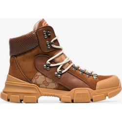 Gucci Leather and Original Journey GG trekking boots found on MODAPINS from Browns Fashion for USD $991.55