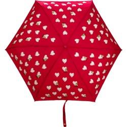 Moschino heart pattern umbrella - Red