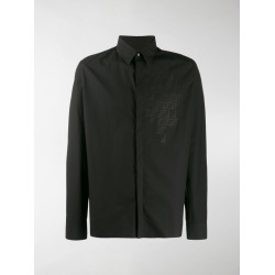 Fendi monogram detail button up shirt
