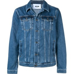 MSGM logo-print denim jacket - Blue found on MODAPINS from FARFETCH.COM Australia for USD $362.01