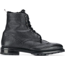 Thom Browne Shearling Lining Wingtip Boot - Black found on Bargain Bro UK from FarFetch.com- UK