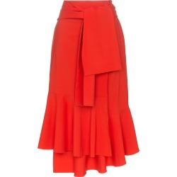 Adeam tie wrap wool midi skirt - Red found on MODAPINS from FarFetch.com - US for USD $254.00