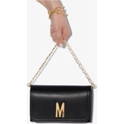 Moschino Womens Black M Logo Leather Mini Bag found on Bargain Bro UK from Browns Fashion