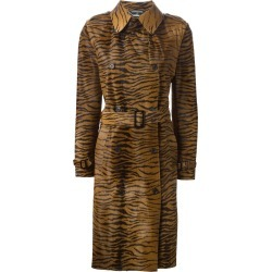 Alexander McQueen Pre-Owned 2003 zebra print trench coat - Brown found on Bargain Bro UK from FarFetch.com- UK