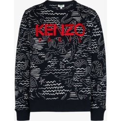 Kenzo Mens Black Logo Embroidery Sweatshirt found on Bargain Bro UK from Browns Fashion