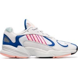 Adidas white Yung 1 Watermelon leather low-top sneakers found on Bargain Bro UK from FarFetch.com- UK for $90.65