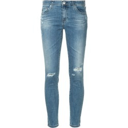 Ag Jeans distressed leg five-pocket cropped skinny jeans - Blue found on MODAPINS from FarFetch.com- UK for USD $304.52