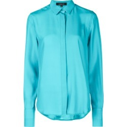 Barbara Bui concealed fastened shirt - Blue found on MODAPINS from FarFetch.com - US for USD $620.00