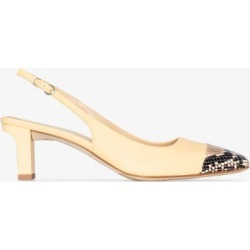 Aeyde Womens Yellow Drew 75 Leather Slingback Pumps found on MODAPINS from Browns Fashion for USD $324.38